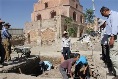 شروع کاوش باستان شناسی در محوطه مسجد جامع ارومیه