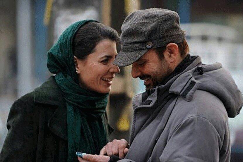 ویدئویی عاشقانه از لیلا حاتمی و همسرش