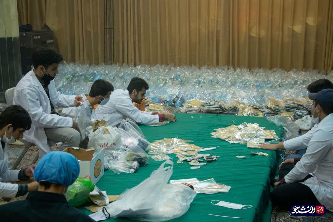 1000 بسته ارزاق ویژه اقشار آسیب پذیر جامعه آماده می گردد ، راه اندازی 2 کارگاه فراوری ماسک