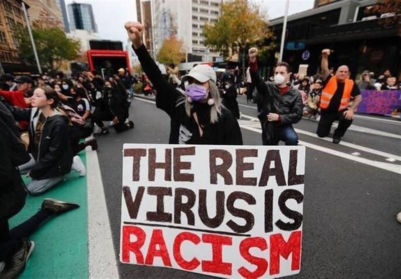 تظاهرات هزاران نفری با شعار نمی توانم نفس بکشم در آمستردام