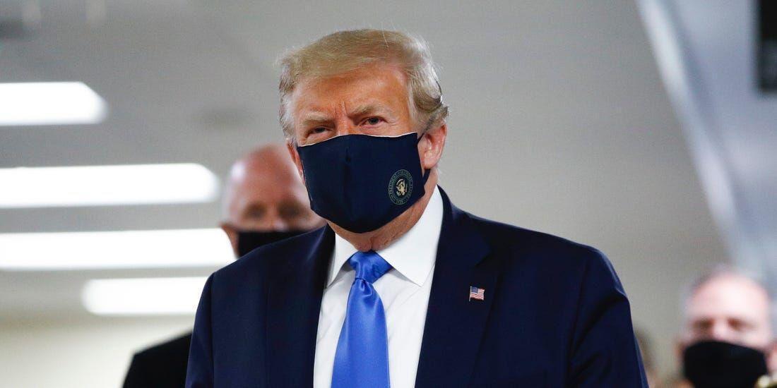 ترامپ هم ماسک زد