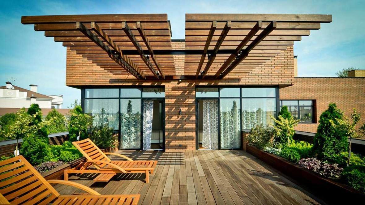 طراحی پشت بام خانه برای القا حس زندگی با 6 ایده ناب