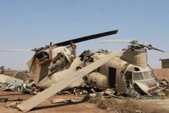 15 کشته در سقوط بالگرد نیروی ارتش افغانستان