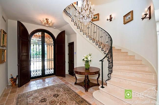 چیدمان و طراحی فضای ورودی خانه به سبکی منحصر بفرد و باشکوه