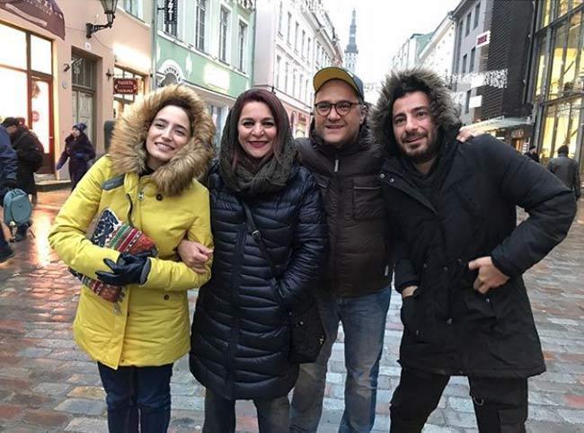 تهمینه میلانی و سه بازیگر معروف در استونی