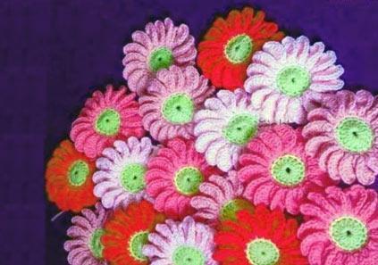 آموزش بافت گل آفتاب گردان با قلاب همراه با عکس