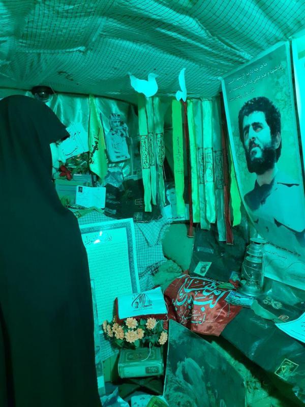 بازدید عضو کمیسیون امنیت مجلس از سنگر شهدای یادیاران نیشابور