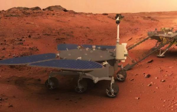 مریخ نورد چینی ژورونگ بر سطح سیاره سرخ قدم گذاشت
