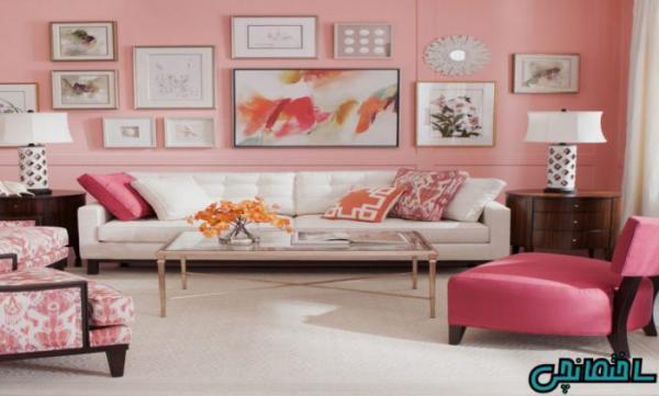 استفاده از رنگ صورتی در طراحی خانه